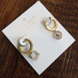 Kate Spade That Sparkle Pave Huggie Earrings